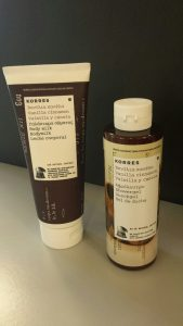 Korres vanilla cinnamon shower gel