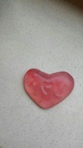 Zeepje hartje I love U rood met kokosgeur